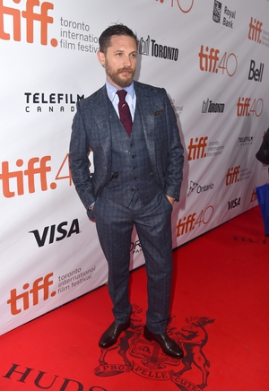 A gorgeous three-piece suit at the 2015 Toronto International Film Festival. Tom looks very dapper with his statement tie.