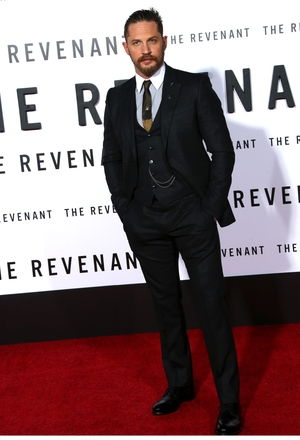 It's all in the details at 'The Revenant' premiere in 2015, with this little waistcoat chain and two-tone tie.