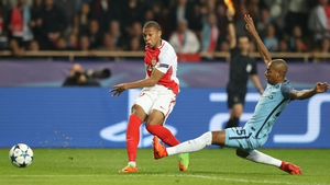 Mbappe in against against Man City in last season's Champions League