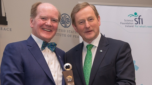 The late Dr Pearse Lyons with former taoiseach Enda Kenny