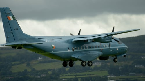 The CASA CN235 fixed wing plane is the only Air Corps plane equipped to conduct top cover operations