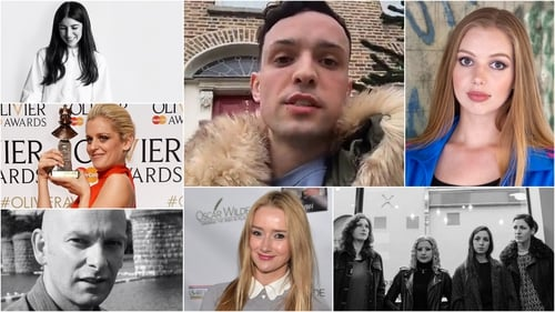 The class of 2017: Aideen Gaynor, Denise Gough, Alan McMonagle, James Kavanagh, Amy Shiels, Seána Kerslake, Montauk Hotel
