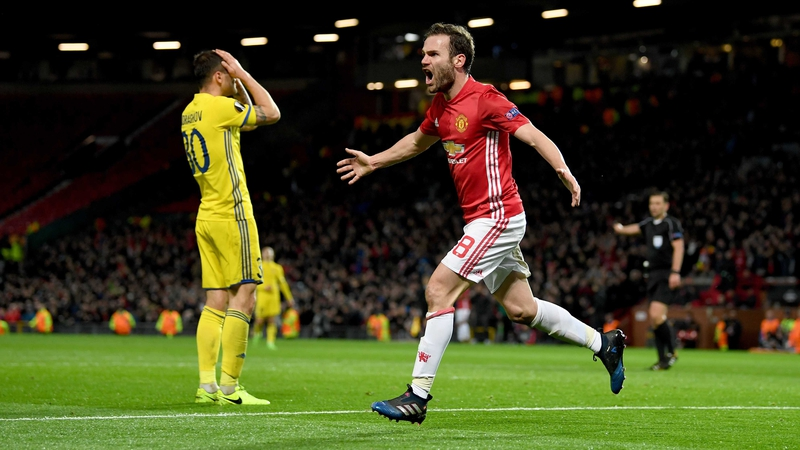 Image result for Manchester United beat Rostov to reach Europa League quarter-finals