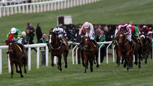 Defi Du Seuil (l) pulls clear to win at the Festival last March