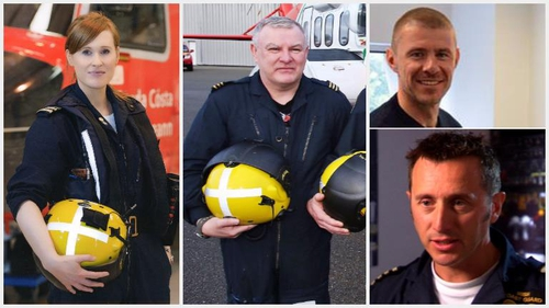 Mark, Dara, Paul, Ciaran -people felt connected to them as the search and rescue helicopter crews hold a special place in people's hearts