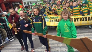 Schoolchildren marching in Cork's St Patrick's Day parade in 2017