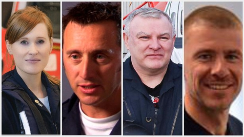 The four crew of Rescue 116 died when the helicopter crashed last March