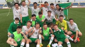 Ireland U17s celebrate their achievement (Pic: FAI)