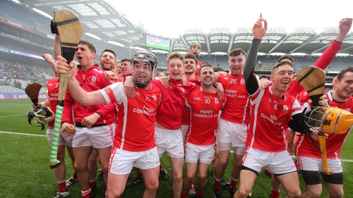 Cuala celebrate winning Dublin's first All-Ireland club title at Croke Park on St Patrick's Day