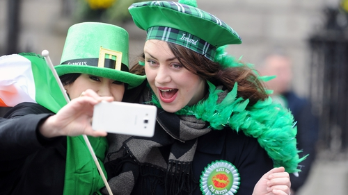 Time for a 'selfie' at the Dublin Parade