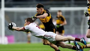 Slaughtneil and Dr Crokes in action in the All-Ireland club final on St Patrick's Day