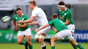 Ireland's Jonny Stewart tackles Jack Nay