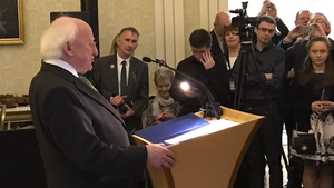 President Michael D Higgins paid tribute to both scientists and the teachers of science