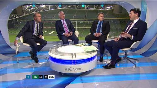 The RTE panel praised Ireland's passion against England