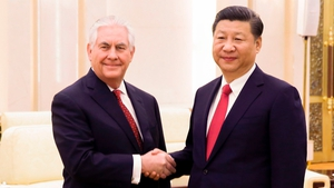 US Secretary of State Rex Tillerson and Chinese President Xi Jinping