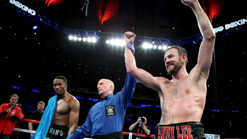 Andy Lee is declared winner at Madison Square Garden