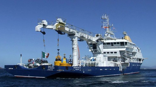 The Irish Lights Vessel, the Granuaile, is being used as the platform for the operation
