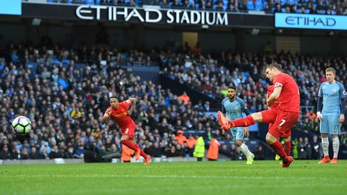 James Milner scores from the penalty spot