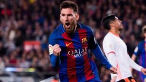 Leo Messi's brace earned Barca a crucial win