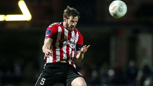Ryan McBride in action for Derry