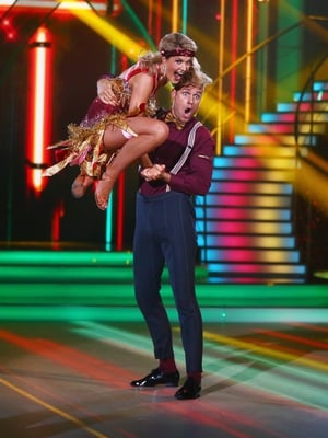 Week 11: Aoibhín and Vitali looked glitzy in red and gold. We are obsessed with Aoibhín's boho head band!