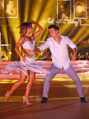 Week 11: Dayl and Ksenia looked picture perfect for their rhumba last night. We are a little bit in love with Ksenia's dress!