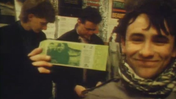 U2 fan with ticket at HMV on Henry Street, Dublin