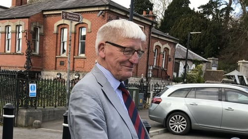 Former British soldier Dennis Hutchings leaving Armagh Courthouse