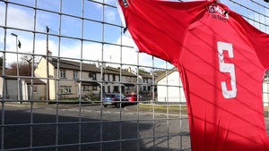 The Derry City number 5 jersey outside The Brandywell Stadium