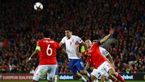 Aleksandar scores Serbia's equaliser against Wales in last November's qualifier in Cardiff