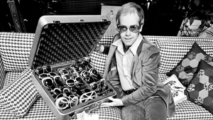 Elton John is probably the man with the most impressive selection of glasses on earth.