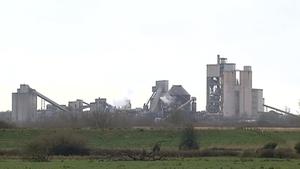 Irish Cement' sproduction kiln in Mungret, Co Limerick