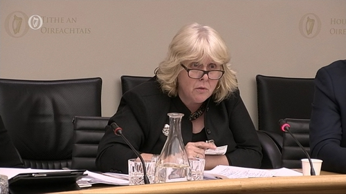 Trinity College Professor Jane Ohlmeyer speaking at committee looking at the implications of Brexit on the Irish education system