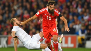 Joe Ledley could miss Friday night's World Cup qualifier at the Aviva Stadium