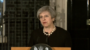 Mrs May addressed the media outside 10 Downing St tonight