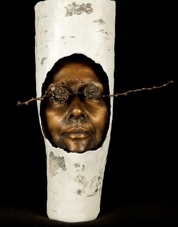 Maighread Tobin, Mask with Twig, 2011