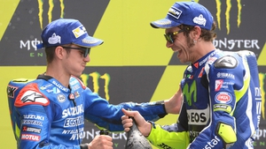 Maverick Vinales and Valentino Rossi are team mates this season
