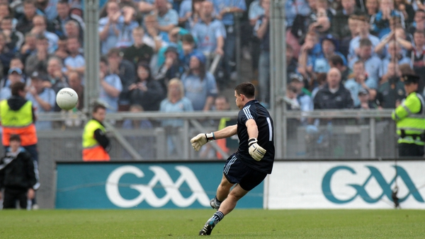 Cluxton lands the match-winning free against Kerry in the 2011 All-Ireland final