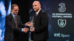 John Hartson scooped the International Personality accolade at the FAI International Football Awards on Sunday