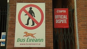 Bus Éireann says the delay is due to administrative staff being on strike