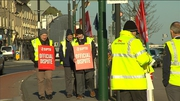 Bus Éireann workers are picketing around the country