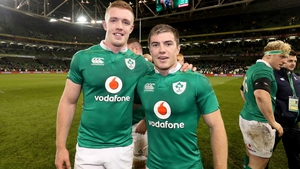 Dan Leavy, left, and Luke McGrath after last week's Six Nations victory over England