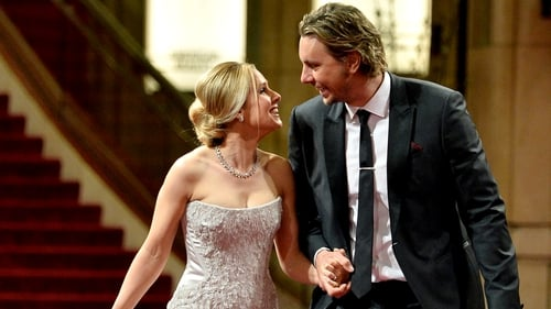 Could they be any cuter?  Kristen Bell and Dax Shepard holding hands at the 86th Annual Academy Awards.