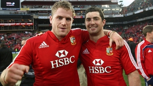 Jamie Heaslip and Rob Kearney during the Lions tour of South Africa in 2009