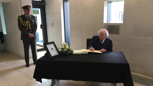 Irish outpouring of sympathy 'truly remarkable' - UK Ambassador