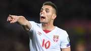 Tadic scored a penalty late in the first half to equalise for Serbia