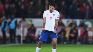 Aleksandar Mitrovic scored Serbia's second goal