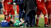 Coleman suffered a double break of his right leg against Wales