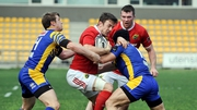 Darren Sweetnam in action against Zebre