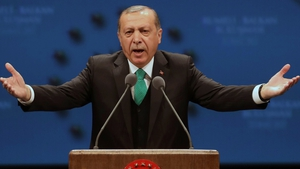 However Mr Erdogan told the rally that 'April 16 would be a breaking point'